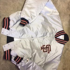 San Francisco Giants Jacket Starter silver mlb